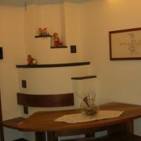 Wohnzimmer Nuss / Stein kombiniert